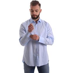 Textiel Heren Overhemden lange mouwen Gmf 962111/21 Blauw