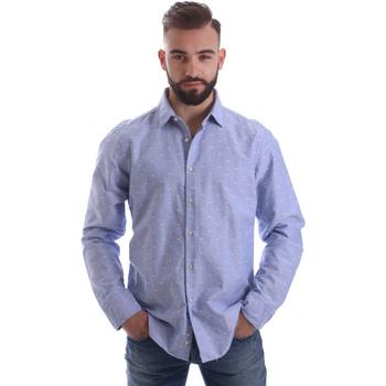 Textiel Heren Overhemden lange mouwen Gmf 962118/03 Blauw