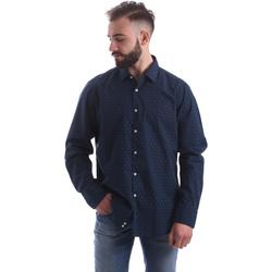 Textiel Heren Overhemden lange mouwen Gmf 962157/06 Blauw
