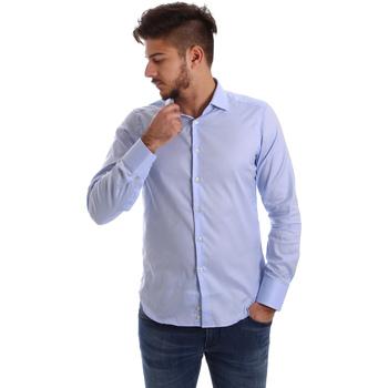 Textiel Heren Overhemden lange mouwen Gmf 962103/03 Blauw