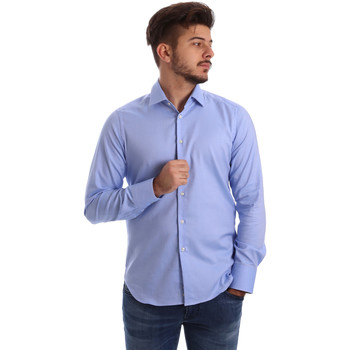 Textiel Heren Overhemden lange mouwen Gmf 962103/04 Blauw