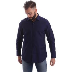Textiel Heren Overhemden lange mouwen Gmf 962103/05 Blauw