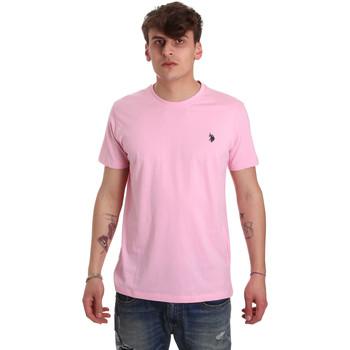 Textiel Heren T-shirts korte mouwen U.S Polo Assn. 57084 49351 Roze