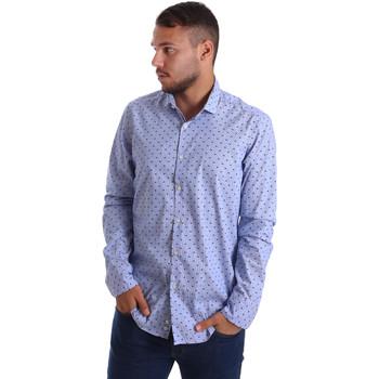 Textiel Heren Overhemden lange mouwen Gmf 971200/04 Blauw