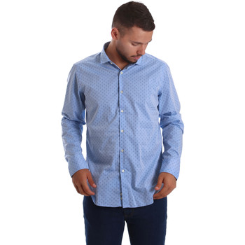 Textiel Heren Overhemden lange mouwen Gmf 971208/03 Blauw