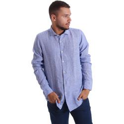 Textiel Heren Overhemden lange mouwen Gmf 971314/04 Blauw