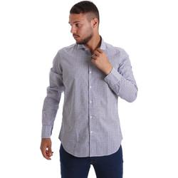 Textiel Heren Overhemden lange mouwen Gmf 971184/02 Blauw