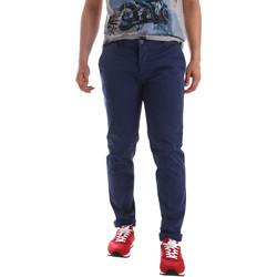 Textiel Heren Chino's Sei3sei PZV89 71336 Blauw