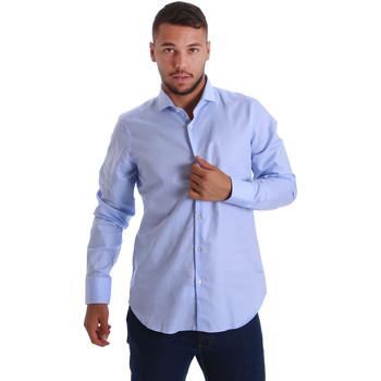Textiel Heren Overhemden lange mouwen Gmf 971103/03 Blauw