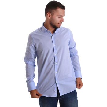 Textiel Heren Overhemden lange mouwen Gmf 971101/03 Blauw