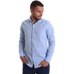 Textiel Heren Overhemden lange mouwen Gmf 971306/02 Blauw