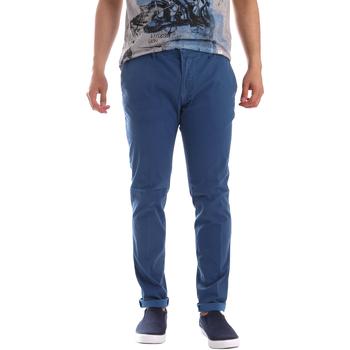 Textiel Heren Chino's Sei3sei PZV156 71341 Blauw