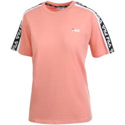 Textiel Dames T-shirts korte mouwen Fila 687686 Rose