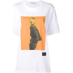 Textiel Dames T-shirts korte mouwen Calvin Klein Jeans J20J208491 Wit