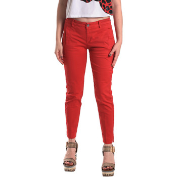 Textiel Dames Chino's Fornarina BE171L74G29176 Rood