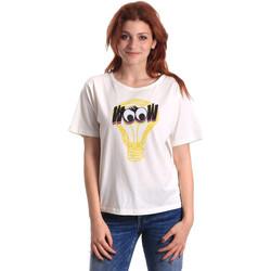 Textiel Dames T-shirts korte mouwen Fornarina BE175L27JG1608 Wit