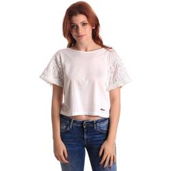 Textiel Dames Tops / Blousjes Fornarina SE175J88JG1309 Wit