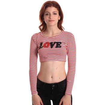 Textiel Dames T-shirts met lange mouwen Fornarina SE175L14JG0976 Rood