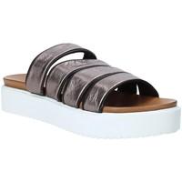 Schoenen Dames Leren slippers Grunland CI1517 Grijs