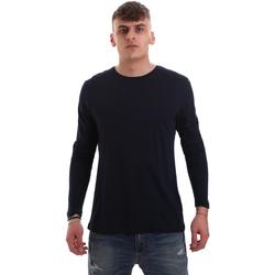 Textiel Heren T-shirts met lange mouwen Antony Morato MMKL00264 FA100066 Blauw