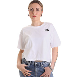 Textiel Dames T-shirts korte mouwen The North Face NF0A4SYCFN41 Wit
