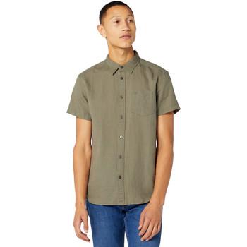 Textiel Heren Overhemden korte mouwen Wrangler W5J1LOX45 Vert