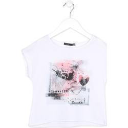 Textiel Meisjes T-shirts korte mouwen Losan 714 1014AB Wit
