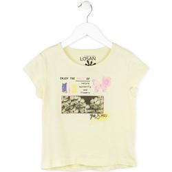 Textiel Meisjes T-shirts korte mouwen Losan 714 1208AB Geel