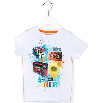 Textiel Jongens T-shirts korte mouwen Losan 715 1023AC Wit