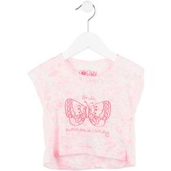 Textiel Meisjes T-shirts korte mouwen Losan 716 1011AD Roze