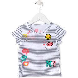 Textiel Meisjes T-shirts korte mouwen Losan 716 1033AD Wit