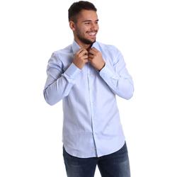Textiel Heren Overhemden lange mouwen Gmf 972903/02 Blauw