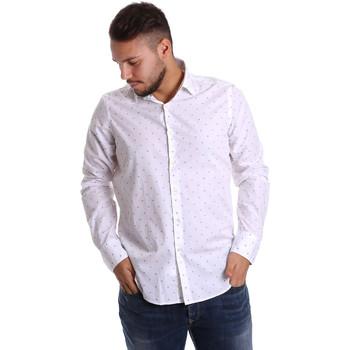 Textiel Heren Overhemden lange mouwen Gmf 972156/03 Wit