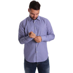 Textiel Heren Overhemden lange mouwen Gmf 972160/04 Blauw