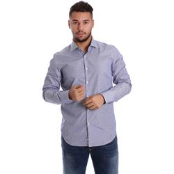 Textiel Heren Overhemden lange mouwen Gmf 972906/04 Blauw