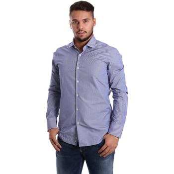 Textiel Heren Overhemden lange mouwen Gmf 972908/04 Blauw