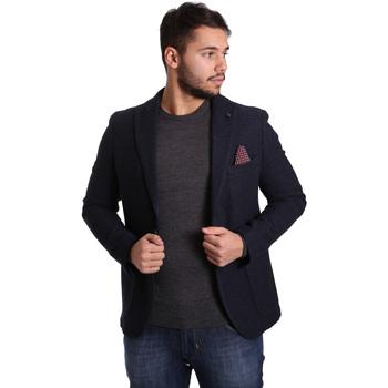 Textiel Heren Jasjes / Blazers Sei3sei PZG12 7296 Blauw