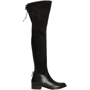 Schoenen Dames Lieslaarzen Mally 6077-1 Zwart