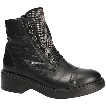 Schoenen Dames Enkellaarzen Mally 6019 Zwart