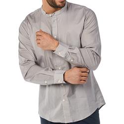 Textiel Heren Overhemden lange mouwen Gaudi 811BU45012 Grijs