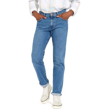 Textiel Heren Straight jeans Wrangler W12OM440D Bleu