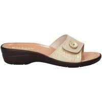 Schoenen Dames Leren slippers Susimoda 1651-01 Beige