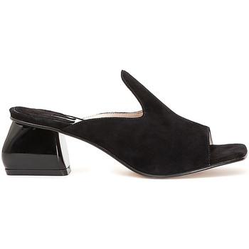 Schoenen Dames Leren slippers Café Noir ME573 Zwart