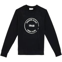 Textiel Heren Sweaters / Sweatshirts Calvin Klein Jeans K10K104548 Zwart