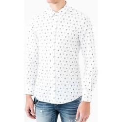 Textiel Heren Overhemden lange mouwen Antony Morato MMSL00425 FA430306 Wit
