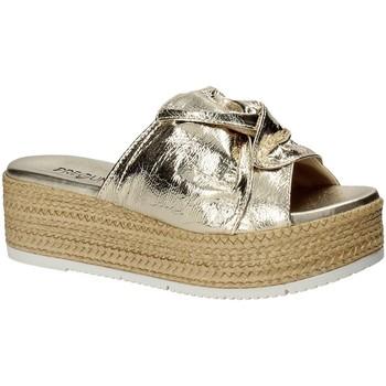 Schoenen Dames Leren slippers Pregunta IL02402-CL Geel