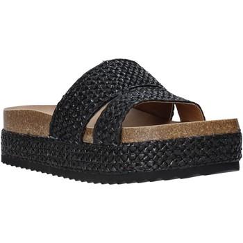 Schoenen Dames Leren slippers Gold&gold A20 GJ302 Zwart