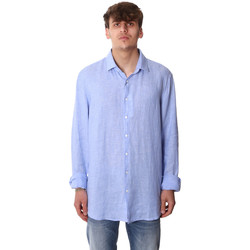 Textiel Heren Overhemden lange mouwen Calvin Klein Jeans K10K106018 Blauw
