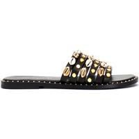 Schoenen Dames Leren slippers Café Noir GB173 Zwart