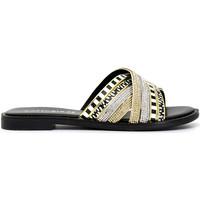 Schoenen Dames Leren slippers Café Noir GD991 Zwart